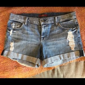7 For All Mankind Relaxed Mid Roll Up Short Nakita